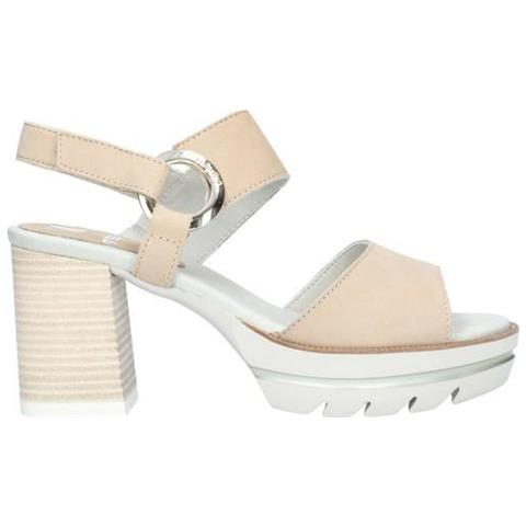 outlet 1473f abc33 CALLAGHAN 25203 Long Beach Sandali Donna Scarpe Tacco Pelle Beige 37