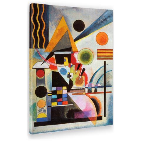 Giallobus Quadro - Stampa Su Tela Canvas Kandinsky - Quadro Astratto  Oscillazione - Quadri Moderni Di Tela - Vari Formati - 50 X 70 Cm
