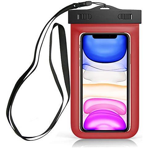 Sovica Custodia Impermeabile Compatibile Con Huawei P10 Lite Certificato Ipx8 Waterproof Case Cover Impermeabile (rosso)