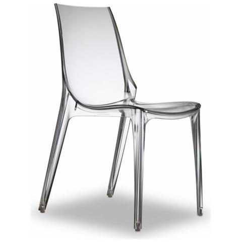 Poltrone Policarbonato Trasparente.Scab Design Poltrona Vanity Chair In Policarbonato Made In
