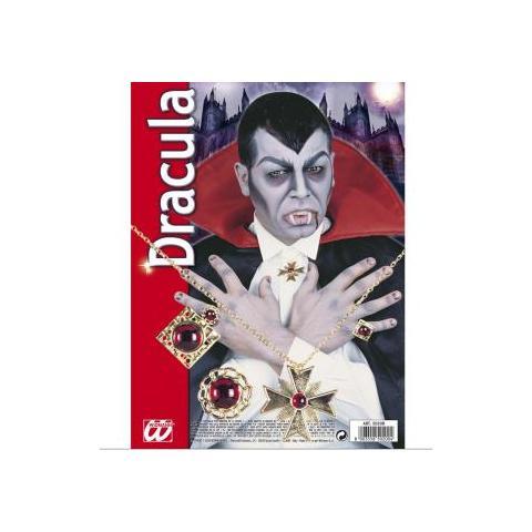 WIDMANN Set Travestimento Dracula Gioielli per Vampiro in Acciaio e Acrilico 7f9a4b4b50ff