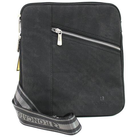 8b836b841e Roncato - Borsello Uomo Tracolla Piatta Bandoliera X Mini Tablet 46.58.30.  nero - ePRICE