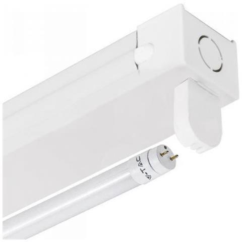 Nouveau V-TAC - Plafoniera Per Tubo Neon Led T8 60 Cm Singola Vt-16010 LM-18