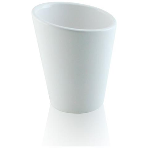 Accessori Bagno In Ceramica Bianca.Bottiglioni Bicchiere Da Appoggio In Ceramica Accessori