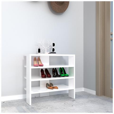 best service fea16 76eb4 Homemania Scarpiera Mix Bianco Moderno - Casa Arredo Design - Per Entrata,  Abiti - Appendiabiti, Armadio - Salvaspazio, Scarpe, Porta