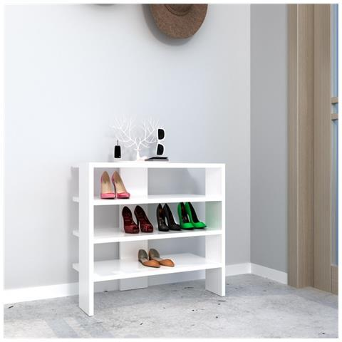 Appendiabiti Casa.Homemania Scarpiera Mix Bianco Moderno Casa Arredo Design Per