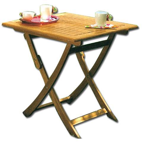 Homegarden tavolo quadrato pieghevole in legno eprice for Costo del solarium per piede quadrato