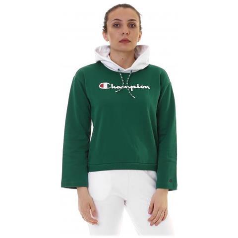size 40 cf983 04fa2 CHAMPION Felpa Recycle Terry Con Cappuccio Donna Taglia S