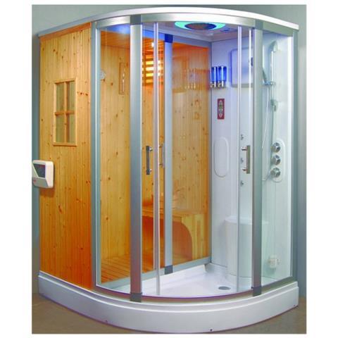 Bagno Italia Cabina Idromassaggio Cm 170x130 Con Sauna Finlandese E Con Bagno Turco Radio Ozonoterapia Eprice