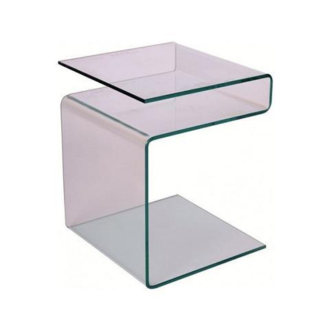 LIBEROSHOPPING - Tavolino Da Salotto In Vetro Cubo Portariviste - ePRICE