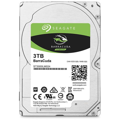 SEAGATE - INT HDD MOBILE BARRACUDA 2.5IN 3TB SATA 2.5IN 5400RPM 6GB/S 128MB 15MM