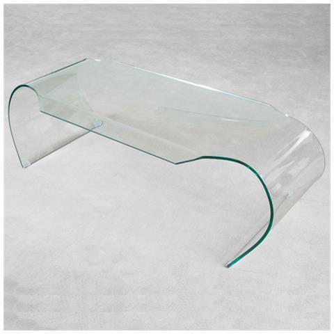 LIBEROSHOPPING - Tavolino Da Salotto In Vetro Curvato Trasparente ...