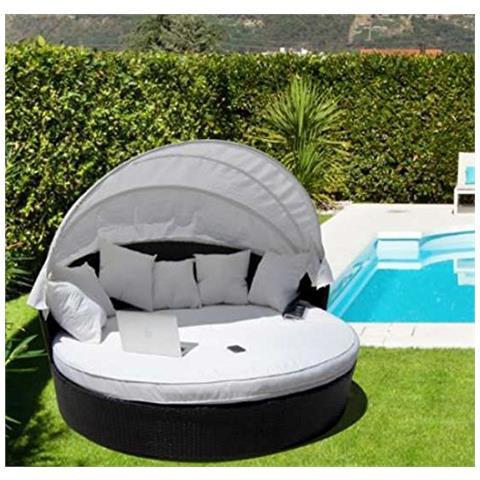 Luxurygarden - Divano Design Tondo In Rattan Da Giardino Chaise ...