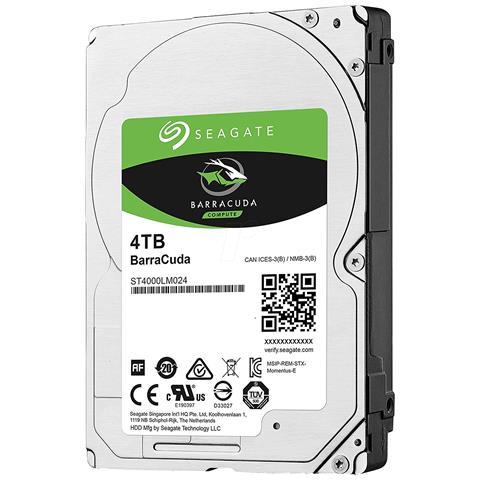 SEAGATE - INT HDD MOBILE BARRACUDA 2.5IN 4TB SATA 2.5IN 5400RPM 6GB/S 128MB 15MM