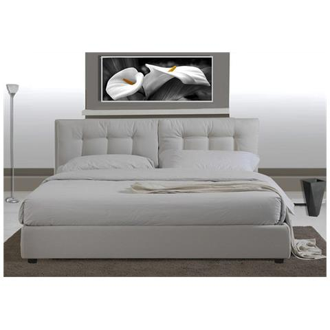 Loyalprice - Letto Matrimoniale In Ecopelle Bianca 2 Piazze Design ...