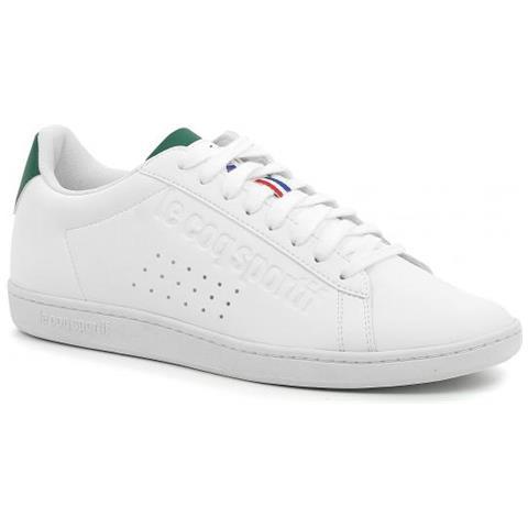 49d7b66bf9 LE COQ SPORTIF - Courtset Sport Optc White / evergreen Sneaker Uomo ...