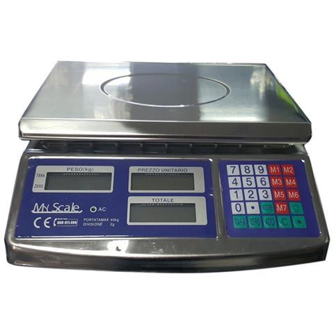 My Scale Bilancia Da Banco Alimenti Professionale Acciaio