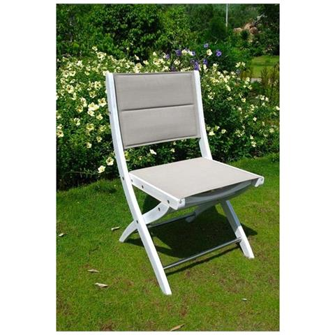 Sedie In Legno Per Alberghi.Milanihome Sedia In Legno Di Acacia Bianca Per Esterno Giardino