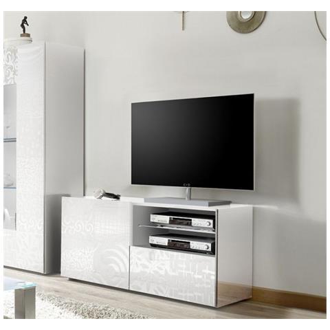 Mobile Tv Bianco Lucido.Web Convenienza Miro Porta Tv Contenitore 1 Anta 1 Cassetto Bianco