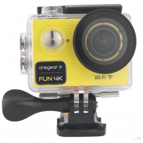 Fun 4K Action Cam Filmati 4K Ultra HD Foto a 12MP Wi-Fi Impermeabile fino a 30m Colore Giallo