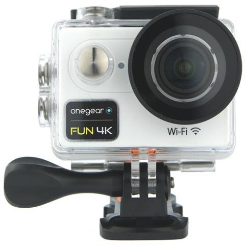 Fun 4K Action Cam Filmati 4K Ultra HD Foto a 12MP Wi-Fi Impermeabile fino a 30m Colore Bianco