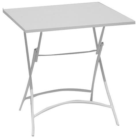 Tavolo Giardino Ferro Pieghevole.Milanihome Tavolo Quadrato Pieghevole In Ferro Bianco 70 X 70 Per