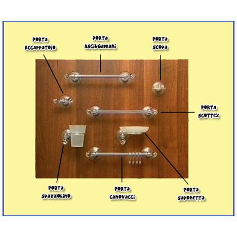 Set Accessori Bagno Offerte.Bca Italy Set Accessori Bagno Cucina Ventosa Tenuta 10kg X