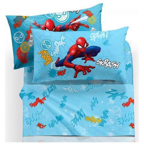 Lenzuola Letto Singolo Disney.Caleffi Completo Lenzuola Spiderman Wall Letto Singolo 1 Piazza