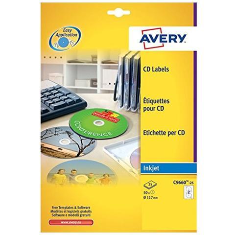 Avery C9660-25 Confezione 25 Etichette CD