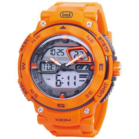 comprare on line f5aa9 bef19 TREVI Orologio Da Polso Analogico / digitale Al Quarzo Sg 320 Arancio