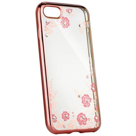COFI 1453 Iphone Di Apple 5 / 5s / Se Silicone Motivo Su Busta Protettiva Case Cover Rosa Fiore