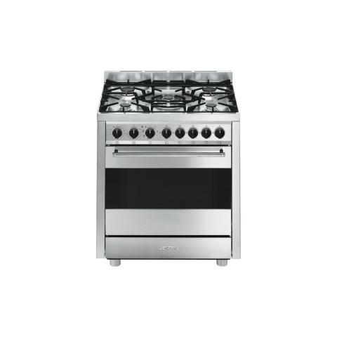 SMEG - Cucina a Gas con Forno Elettrico B7GMXI9 5 Fuochi Classe A ...