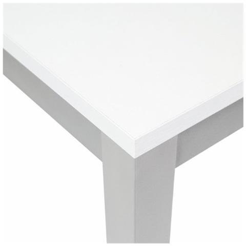 ARGONAUTA Tavolo Pranzo Allungabile Legno Nobilitato Metallo Cucina Bianco  90x90 Cm