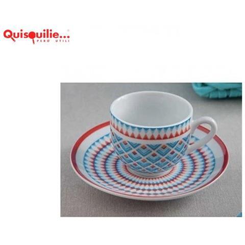 Servizio Tazze Caffe Con Piattino TOGNANA Olimpia Donna 6 pezzi Porcellana