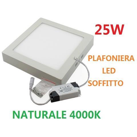 Trade Shop Plafoniera Led Soffitto Lampade Quadrato 150 Led 25w