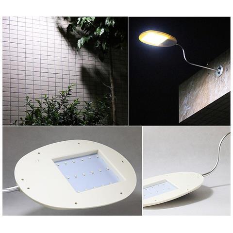 Luce Per Esterno Con Pannello Solare.Trade Shop Traesio Luce 18 Led Smd Pannello Solare
