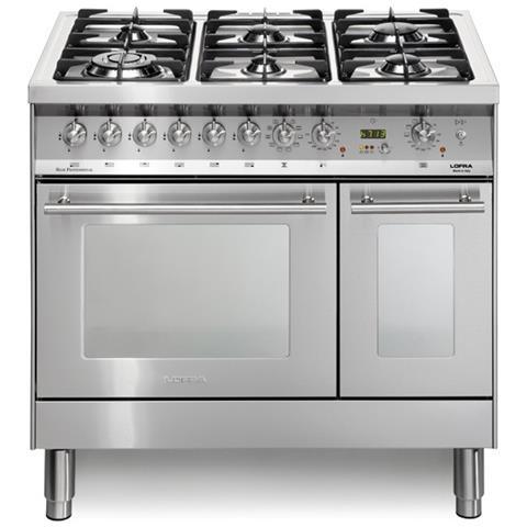 Lofra Cucina A Gas Pd96mfte Cisf 6 Fuochi A Gas 2 Forni Elettrici 1 Multifunzione E 1 Statico Classe A Dimensioni 90 X 60 Cm Colore Inox Satinato Eprice
