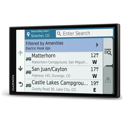 Aggiornamento Mappe a Vita e Infotraffico TMC DAB Garmin Dezl-Cam LMT-D Navigatore per Autocarri con Dash Cam Integrata Nero