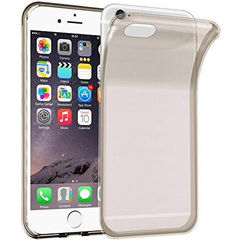 Cadorabo Custodia Per Apple Iphone 6 / Iphone 6s In Nero Transparente - Morbida Cover Protettiva Sottile Di Silicone Tpu Con Bordo Protezione - Ultra ...
