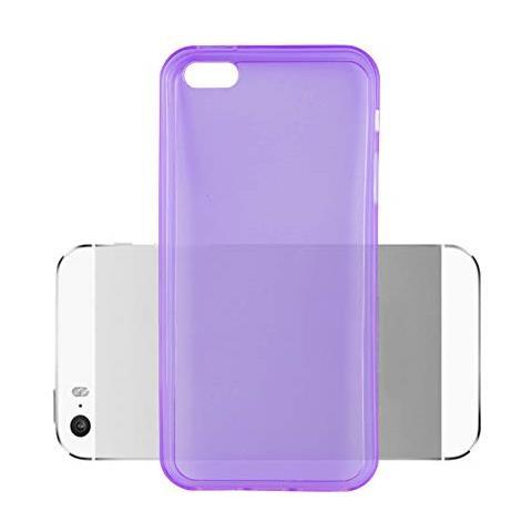 Cadorabo Custodia Per Apple Iphone 5 / Iphone 5s / Iphone Se In Lilla Transparente - Morbida Cover Protettiva Sottile Di Silicone Tpu Con Bordo ...
