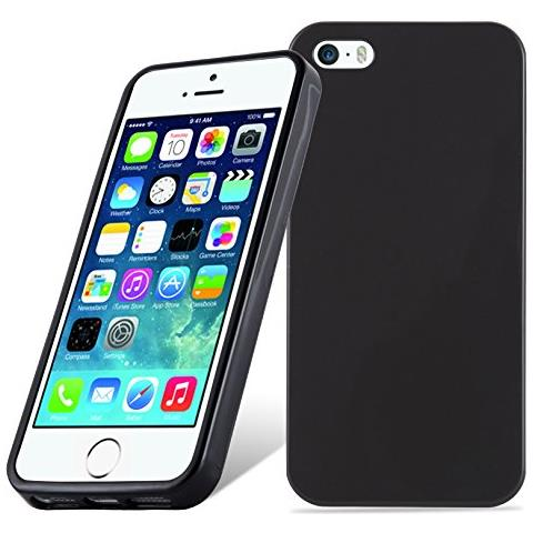 Cadorabo Custodia Per Apple Iphone 5 / Iphone 5s / Iphone Se In Nero - Morbida Cover Protettiva Sottile Di Silicone Tpu Con Bordo Protezione - Ultra ...