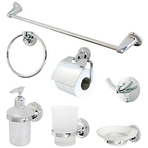Accessori Bagno Accessori Bagno.Ironware Accessori Bagno 7 Pezzi Bianco Satinato Eprice