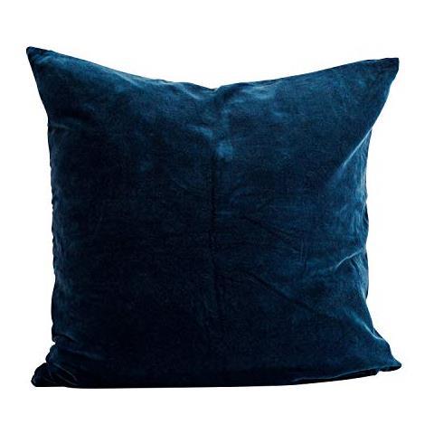 Federe Cuscini 60 X 80.Madam Stoltz Federa In Velluto Cuscino In Colore Zaffiro Blu In