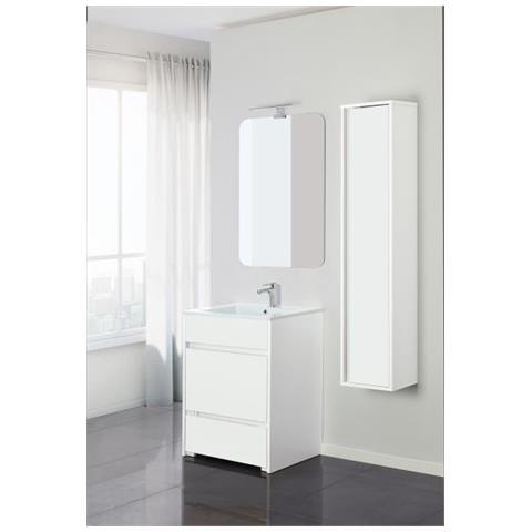 Feridras - Composizione Mobile Bagno 60 Cm Family Laccato Bianco ...
