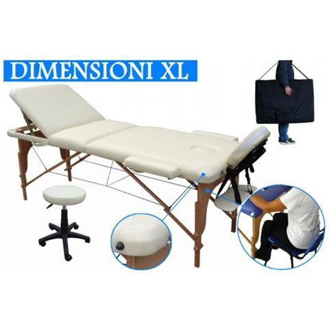 Lettino Da Massaggio Pieghevole Usato.Beltom Lettino Massaggio 3 Zone In Legno Dimensione Xl 195 X 70