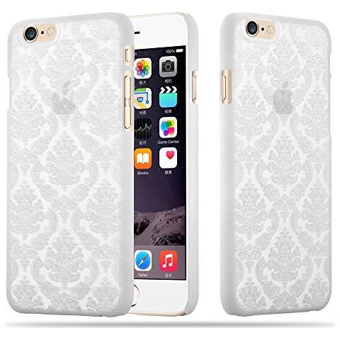 CADORABO Custodia Per Apple Iphone 6 / 6s Hard Cover Mandala In Bianco - Rigida Protettiva Super Sottile Con Bordo Protezione - Case Ultra Slim Bumper ...