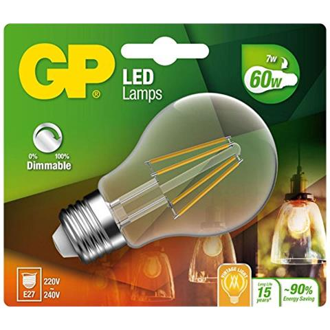GP Lighting Filament Classic E27 7W (60W) dimmable 806 lm