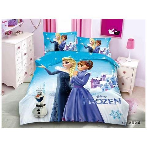 Slowmoose Set Di Biancheria Da Letto Stampata In 3d Disney Copriletto Singolo Frozen Elsa Anna Rapunzel Principessa Ragazze Anna Elsa Single 2pz Eprice