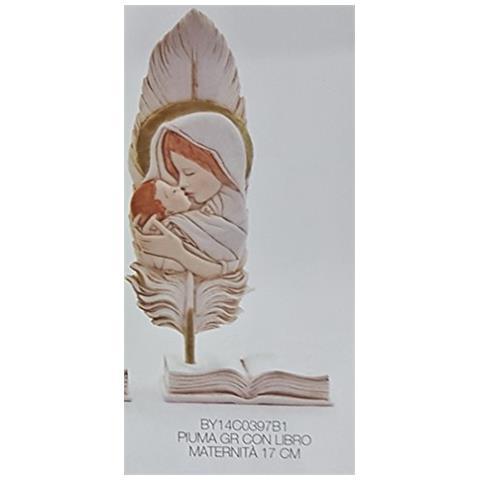 Ncp Bomboniera Battesimo Piuma Con Libro Maternita 17 Cm 12 Pezzi