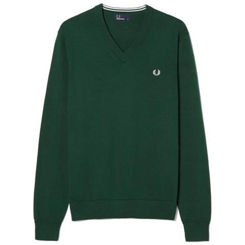 cheap for discount e4a57 1dcf4 Fred Perry Maglione Uomo Scollo A V Cotone Xl Verde